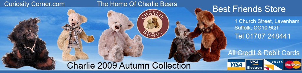 Charlie Bear 2009 Autumn Collection at Curiosity Corner