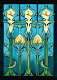Moorcroft Cards Calla Lilly