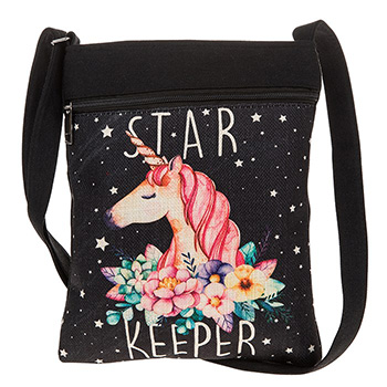 Star Unicorn Flat Shoulder Bag