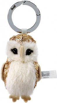 Steiff Selection Gold Owl Keyring