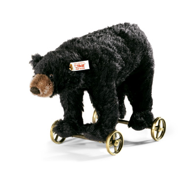 Steiff Black Bear on Wheels