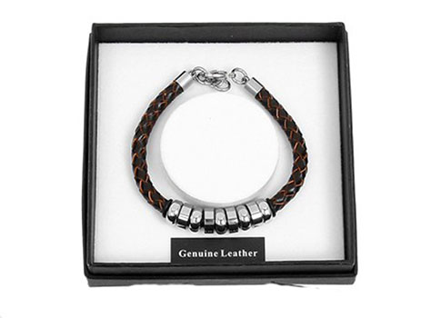 Mens Brown Leather Bracelet C