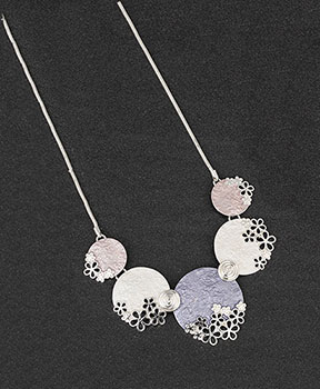 Necklace Hazy Tones Floral Modern