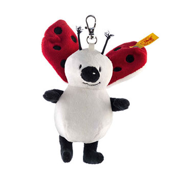 Steiff Keyring Lady Bug White