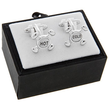 Mens Hot and Cold Cufflinks
