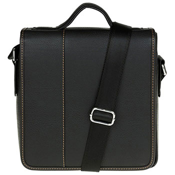 Men's Plain Messenger Bag Black