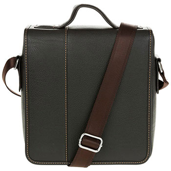 Men's Plain Messenger Bag Brown