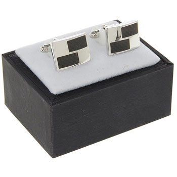 Mens Textured Rectangle Cufflinks