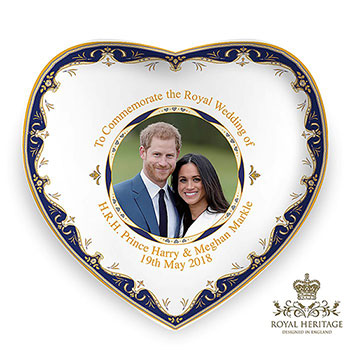 Royal Wedding China Heart Dish