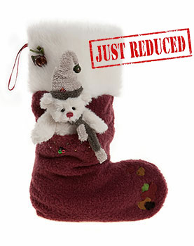 Charlie Bears Christmas Stocking Berry Red