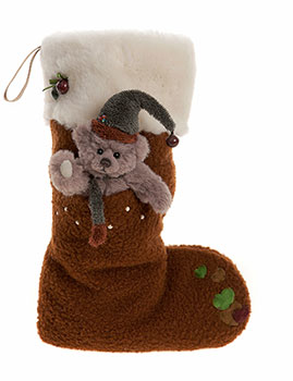 Charlie Bears Christmas Stocking Reindeer Brown
