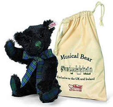 Steiff Black Watch Musical Teddy Bear