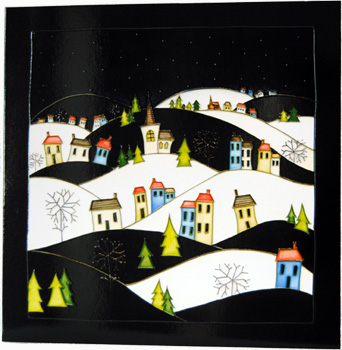 Moorcroft Christmas Card Silent Night