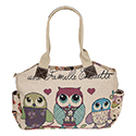 Three Owls Long Handbag Cream