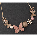 Necklace Earthy Tones Butterfly Sparkle