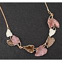 Necklace Earthy Tones Forest Leaves