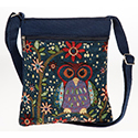 Owl Flat Shoulder Bag Blue