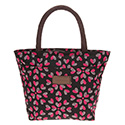 Hearts Waterproof Handbag Black