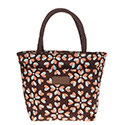 Hearts Waterproof Handbag Brown