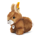 Steiff Hopel Rabbit Brown Tipped