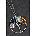 Necklace Tree of Life Multi Coloured