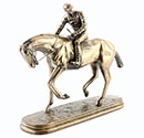 Art Bronze Racehorse Small
