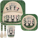 Bamboo Eco Baby Food Set Pandas
