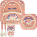 Bamboo Eco Baby Food Set Unicorn