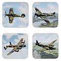 Boxed Classic Airplanes Coasters