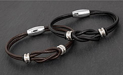 Mens Knotted Leather Bracelet