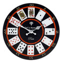 Wall Clock Playing Cards Glass Large