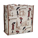 Miss London Tapestry Shopper Bag