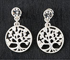 Earrings 2 Tone Filigree Tree of Life