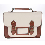 Classic A4 Tan and Cream Satchel