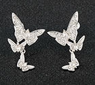 Earrings Butterfly Cluster