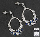 Earrings Crystal Loop Blue