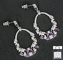 Earrings Crystal Loop Lilac