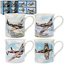 Boxed Classic Airplanes 4 Mug Set