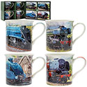 Boxed Classic Trains 4 Mug Set