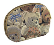 Bear Tapestry Cosmetics Bag