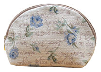 Blue Rose Tapestry Cosmetics Bag