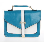 Classic Blue and White  Envelope Satchel