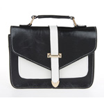 Classic Black and White  Envelope Satchel