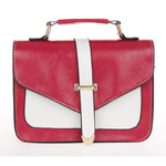 Classic Red and White  Envelope Satchel