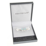 Butterfly Bangle Aqua Clear