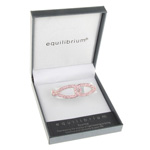 Linked Hinged Bangle Pink