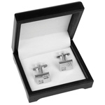 Square Crystal Cufflinks Set