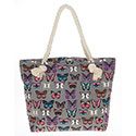 Tote Bag  Butterfly Pale Grey