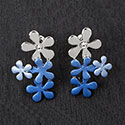 Earrings Cool Tones Daisy