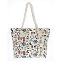 Nautical Tote Bag Cream